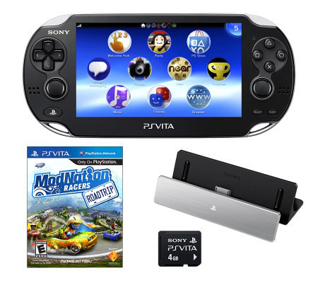 PS Vita WiFi Bundle w/ 4GB SD Card, Front/RearCameras & More