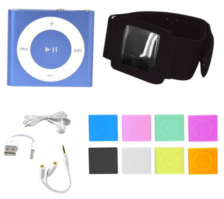 Apple iPod Shuffle w/ 8 Colors, Arm Band Holder & Headphone Acc