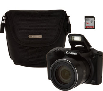 Canon Powershot SX420 IS Wifi 20MP Digital Camera with 42x Zoom & Accs. - E231224