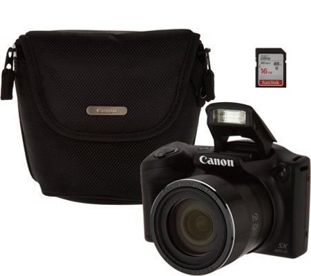 Canon Powershot SX420 IS Wifi 20MP Digital Camera with 42x Zoom & Accs.