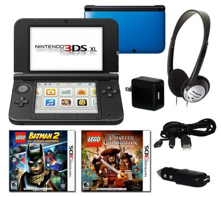 Nintendo 3DS XL Bundle -2 Lego Games & Travel Accessory Pack