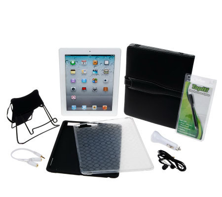 Apple iPad 2 32GB WiFi with Case, Stand Earbuds and More