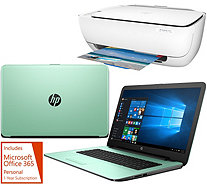 "HP 15"" Laptop 8GB RAM 1TB HDD Intel Core i3 Two Yr Tech, HP Printer &Office - E229825"