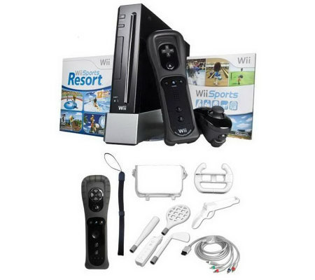 Nintendo Wii with Extra MotionPlus, Bag, and Accessories