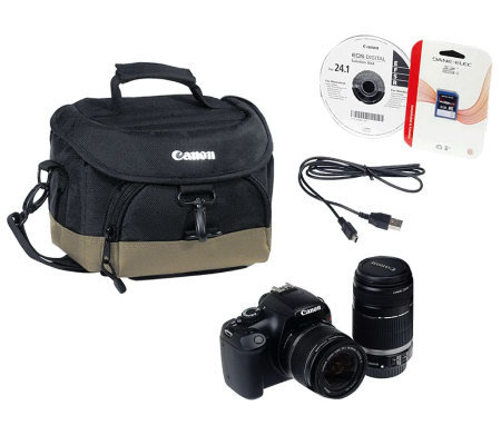 Canon EOS Rebel T3 DSLR 12.2MP Camera w/2 Lens Kit,Camera Bag, 4GB SD Card