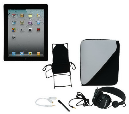 Apple iPad 2 16GB WiFi with Headphones Carry Case and More