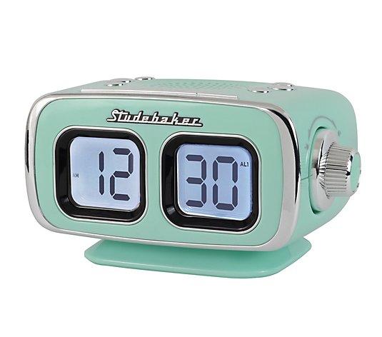 Studebaker Retro Alarm Clock With Am Fm, Retro Radio Alarm Clock