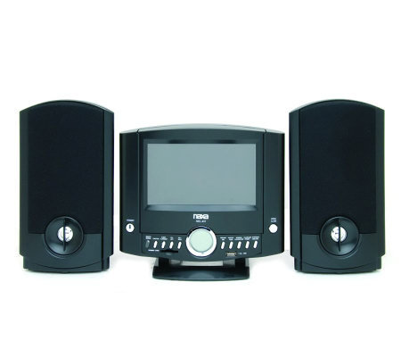 Naxa NDL-431 DVD Micro System w/Digital AM/FM Radio & USB/SD