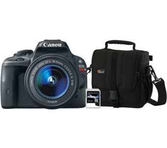 Canon EOS Rebel SL1 18MP Digital Camera wit h Bag & SD Card - E271426