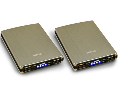 Royal Powerburst 10,000 mAh Portable Charger -Set of 2