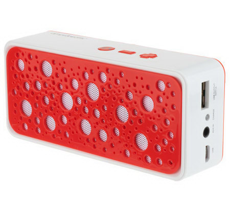 Amps & Watts Portable Power Bluetooth Speaker with 1800 mAh