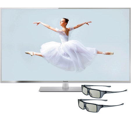 "Panasonic 50"" Class 120Hz 3D LEDSmart HDTV w/2Sets 3D Glasses"