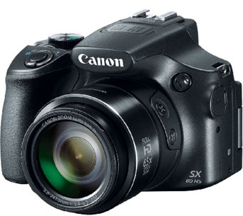 Canon PowerShot 16MP 65X 1080p HD Digital Camera - E285027