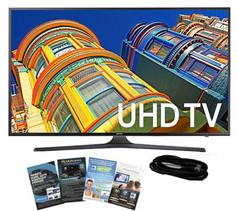 "Samsung 55"" Smart LED 4K Ultra HDTV with HDMI Cable & App Pac - E289027"