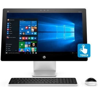 "HP 23"" Touch All-in-One PC QuadCore Win10 8GB RAM 1TB HDD w/MS Office 365 - E228528"