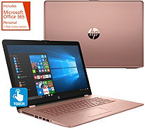 "HP 17"" Touch Laptop Core i5 8GB RAM 2TB HD w/ Backlit Key & MS Office 365 - E231228"