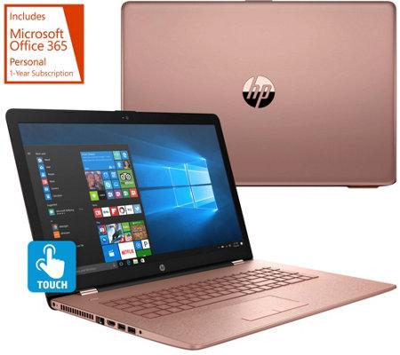 """hp 17"""" touch laptop core i5 8gb ram 2tb hd w/ backlit keys"""