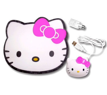 Hello Kitty KT4098 Optical Mouse with Mouse Pad
