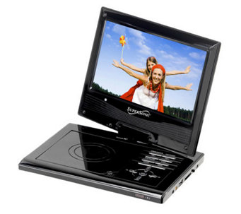 "SuperSonic SC-179 9"" Diag. Portable DVD Player,Swivel Display - E251128"