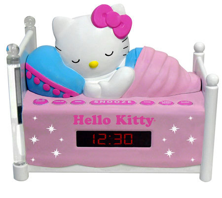 Hello Kitty Sleeping AM/FM Clock Radio with Night-Light