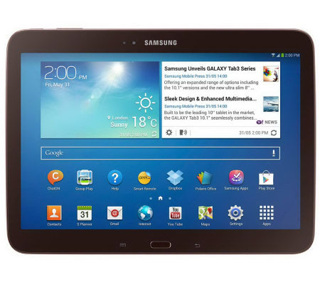 "Samsung 10.1"" 16GB Galaxy Tab 3 Android Tabletw/ 2 Cameras"