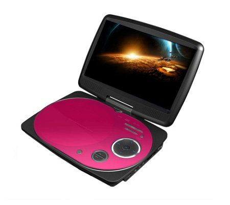 "Impecca 9"" Swivel Portable DVD Player"