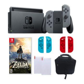 Nintendo Switch - Gray with Zelda, Sleeves & Accessories