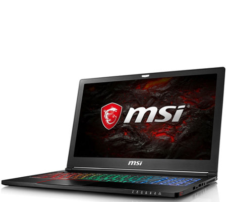 "MSI GS63 15.6"" Laptop - Core i7, 16GB RAM, 256GB SSD, 1TB HDD"