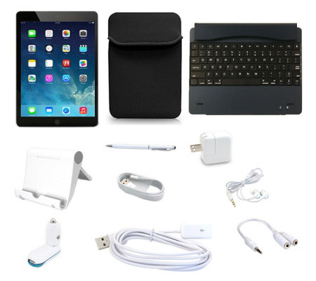 Apple iPad Air2 16GB WiFi with Bluetooth Keyboard & 6pc Starter Kit