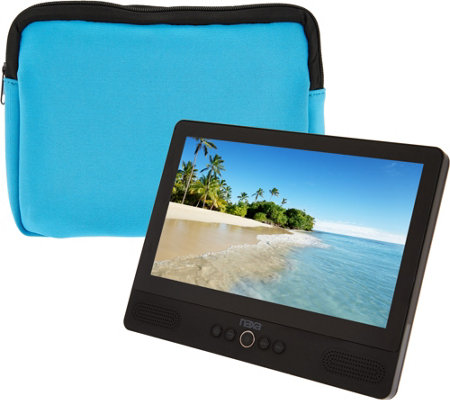 "Naxa 9"" Tablet with Built-in Portable DVD Player and Color Case"