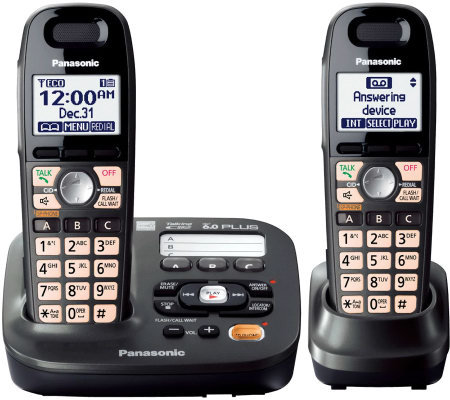 Panasonic DECT 6.0 Plus Answering System w/2 Handsets
