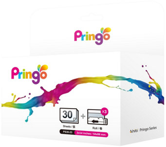 Pringo Portable Printer 30 Pack Paper Refill & Ink - E228232