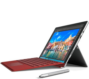 Microsoft Surface Pro 4 Core i5, 128GB Tech, Office365 & Red Keyboard - E229032