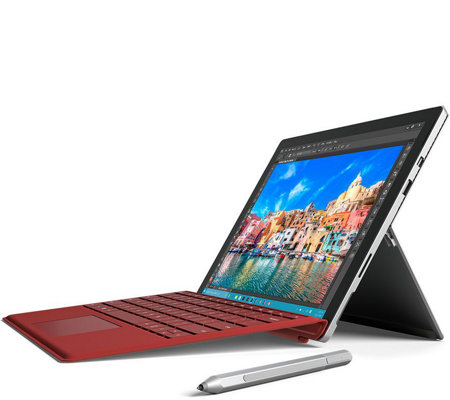 Microsoft Surface Pro 4 Core i5, 128GB Tech, Office365 & Red Keyboard