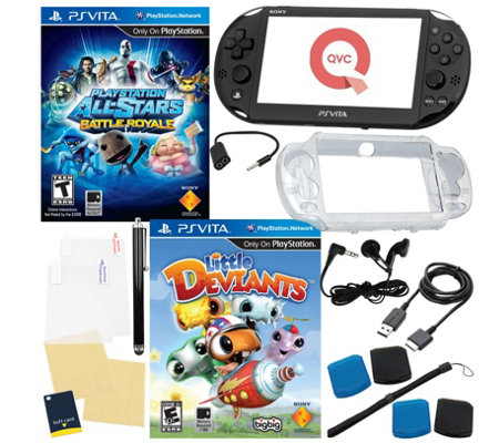 Sony PS Vita Bundle with 2 Games & Accessories