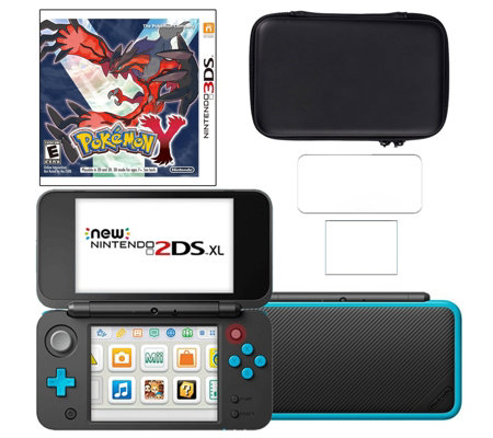 New Nintendo 2DS XL with Pokemon Y & Accessories