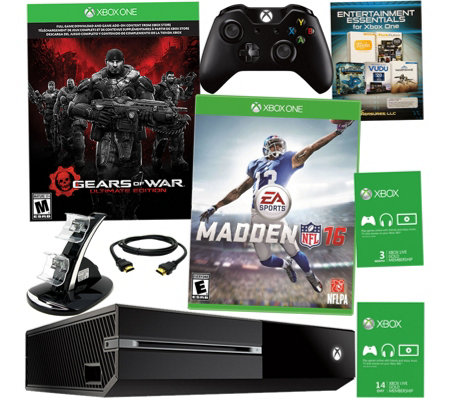 Xbox One 500GB Gears of War Bundle with Madden 16 & App Package