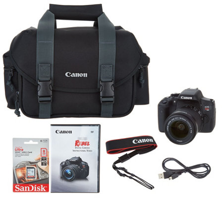 Canon Rebel T6i 24.2MP DSLR w/ 18-55mm STM Lens & Accessories