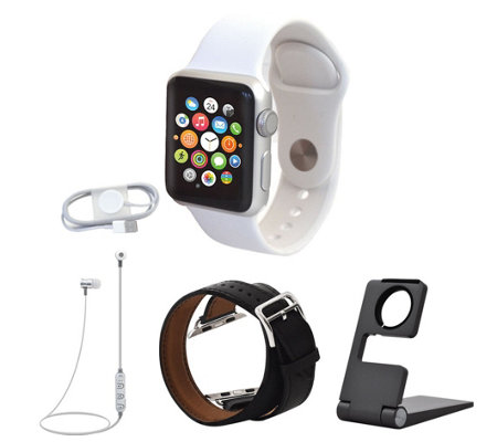 Apple Watch Series 1 42mm w/ Double Wrap Watch Band & Accessories