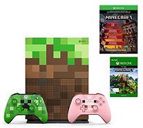 Xbox One S 1TB Limited Edition Minecraft Bundle w/ Extra Controller - E231933