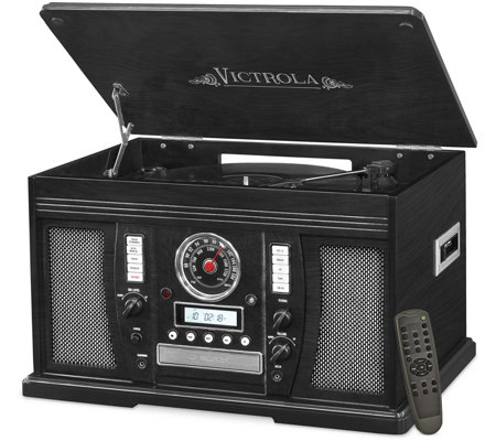 Victrola Aviator Wooden 7-in-1 Bluetooth Record Player