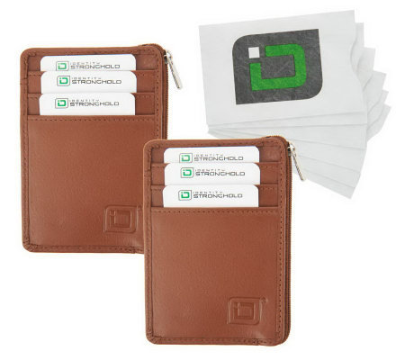 ID Stronghold Set of 2 Mini Wallets and 6 RFID Card Sleeves