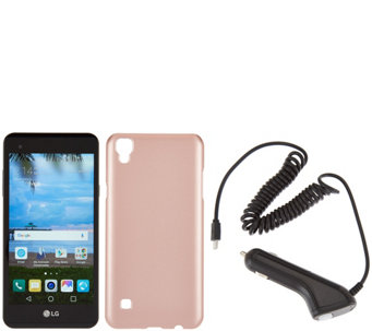 LG xStyle LTE TracFone w/ Rose Gold Case & 1350 Mins/Text/Data - E229734