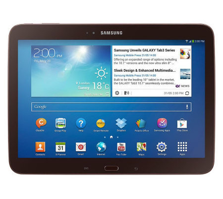 "Samsung 10.1"" Galaxy Tab 3 16GB Tablet with Android 4.2"