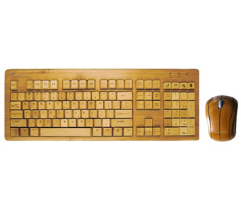 Impecca Bamboo Keyboard and Mouse - E276034