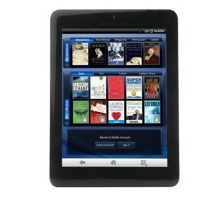"Pandigital 7"" TouchScreen 4GB WiFi Multimedia eReader/Tablet with Case"