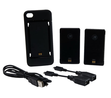 Third Rail Slim Case for iPhone4/4S with Two Slide-on Smart Batteries