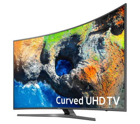 "Samsung 55"" 4K Curved Ultra HD Smart TV with App Pack & 2-Yr Warranty"