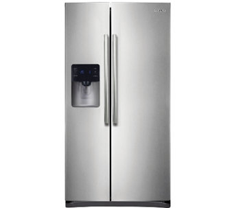 Samsung 25 Cu. Ft. Side-by-Side Twin Cool Refrigerator Steel - E279635