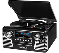 Victrola Retro Bluetooth Record Player and Stereo - E290835
